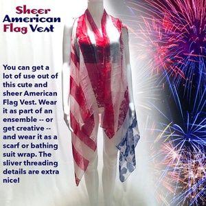American Flag Vest *Sheer 🇺🇸🎆✨🇺🇸